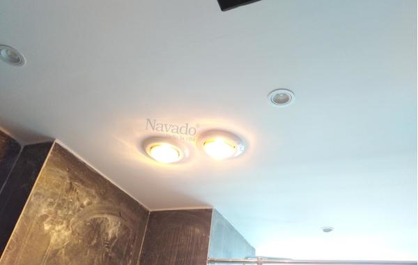 Không gian thêm lãng mạn với đèn sưởi 1 bóng âm trần cho quán cafe