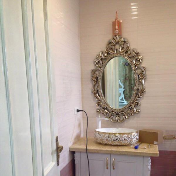 Gương decor phòng tắm