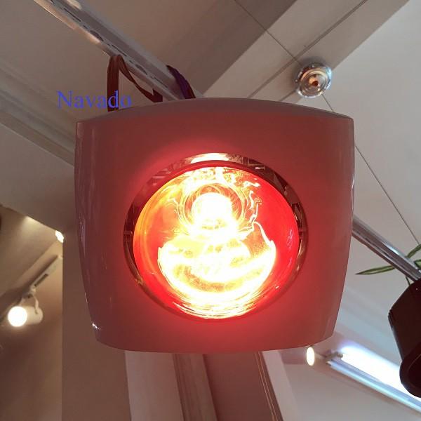 Đèn sưởi âm trần bóng đỏ cho phòng tắm