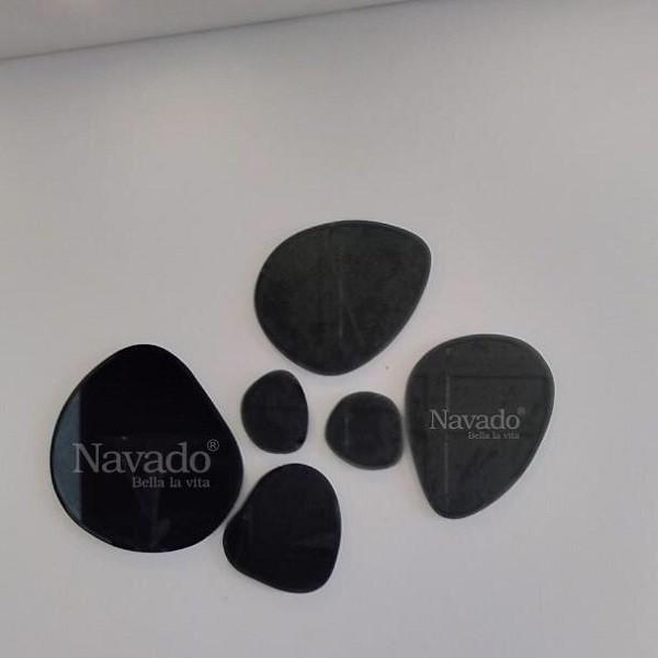 Gương hình đá nghệ thuật phòng khách