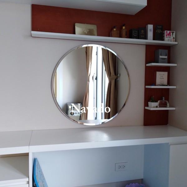 Gương tròn mài vát bàn trang điểm