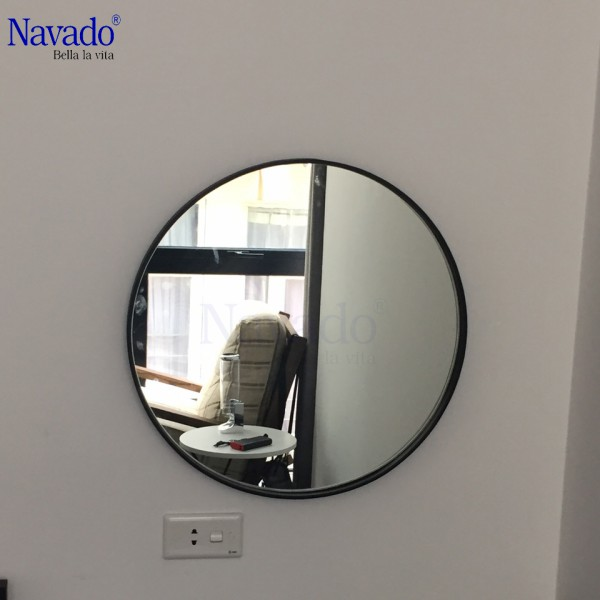 Gương tròn vành thép mạ optima 60