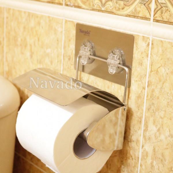 Kệ lô giấy inox không khoan tường