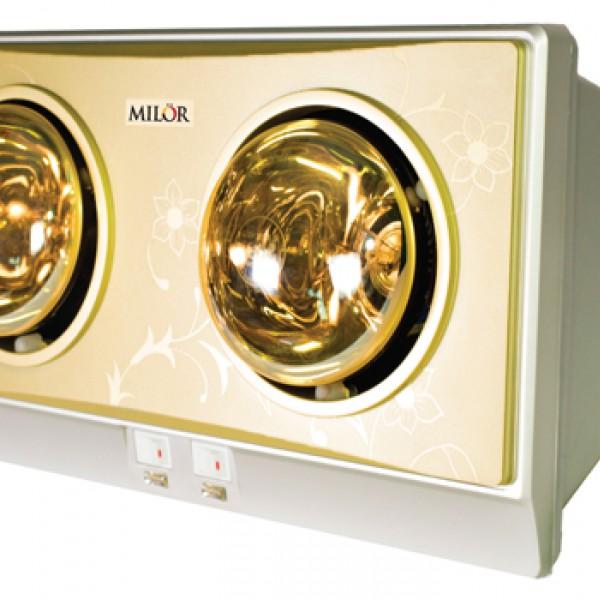Đèn sưởi nhà tắm Milor 2 bóng ML 8002