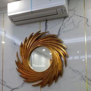 Gương decor phòng khách Nut (gold)