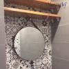Gương tròn treo phòng tắm đẹp