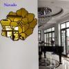 Gương treo tường nghệ thuật hoa hồng vàng