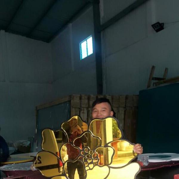 Gương tròn treo dây thừng classic 50cm
