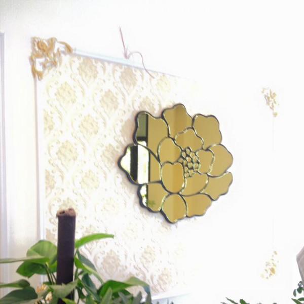 Gương nghệ thuật phòng khách hoa hồng