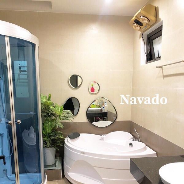 Gương ghép phòng tắm hiện đại (4 mảnh)