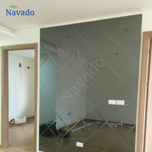 Gương trang trí ghép dán tường phòng khách