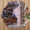 Gương trang trí phòng khách mắt kính