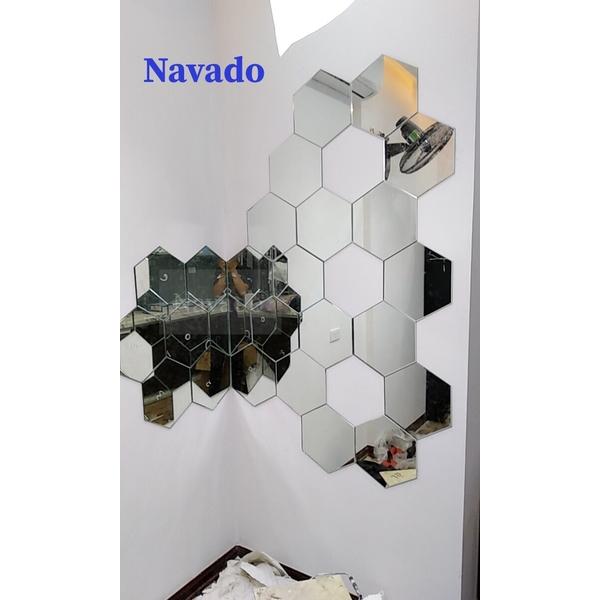 Gương ghép tường ô lục giác cao cấp