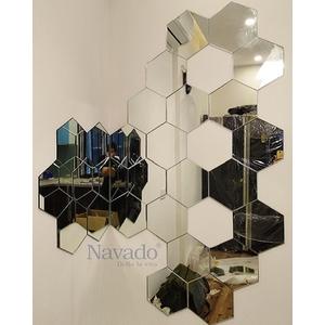 Gương trang trí ghép tường lục giác