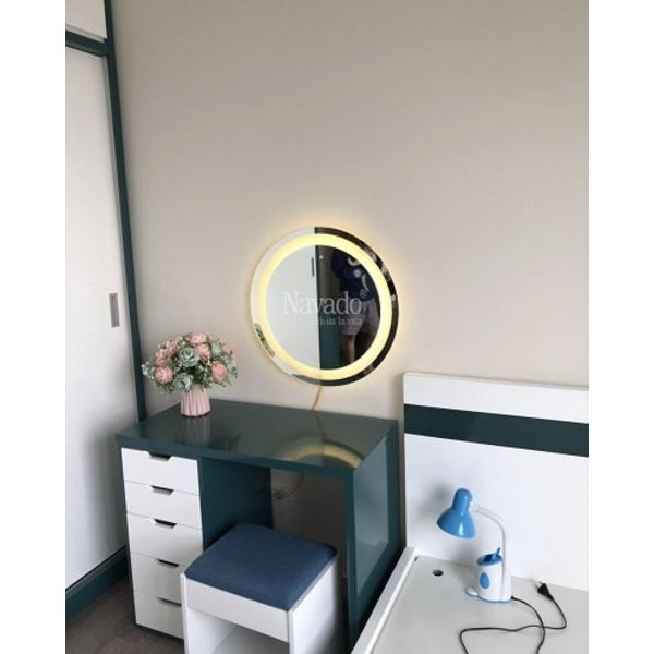 Gương trang điểm đèn led tròn 60cm