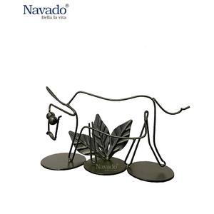 Bộ decor khung sắt hình con trâu Navado