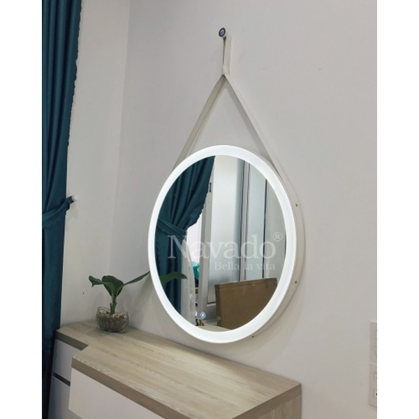 Gương dây da đèn led cao cấp 50cm