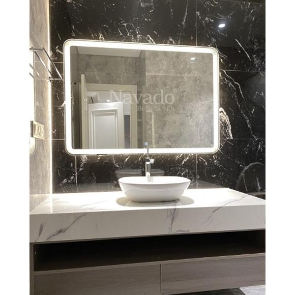 Gương đèn led phòng tắm vuông