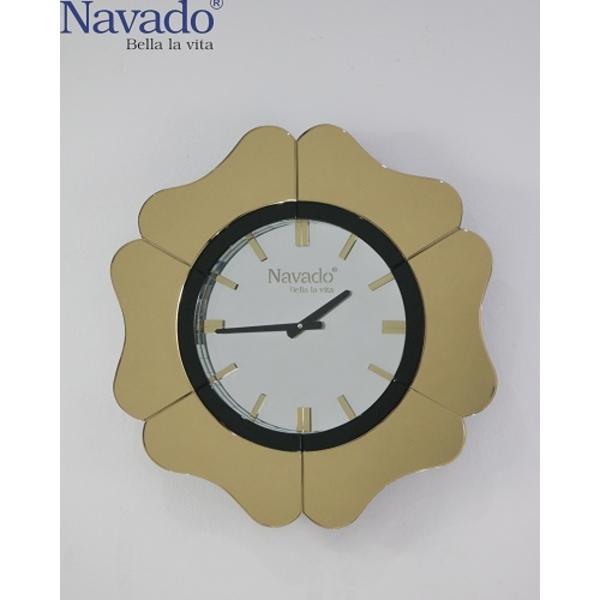 Đồng hồ treo tường decor Atlantic Gold