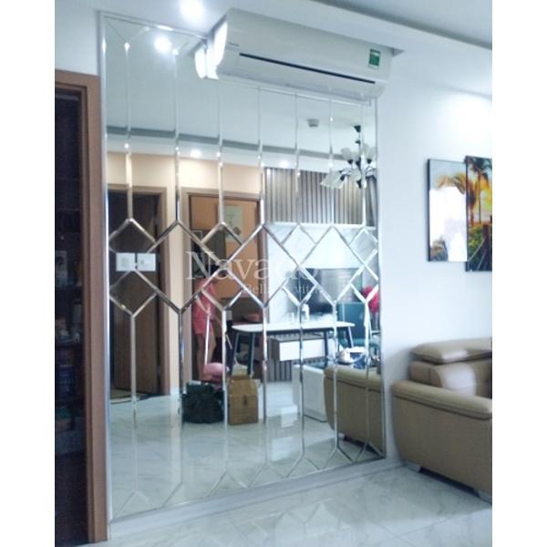 Gia công gương ghép trang trí nội thất