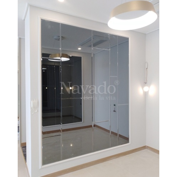 Gương ghép dán tường nội thất Gray