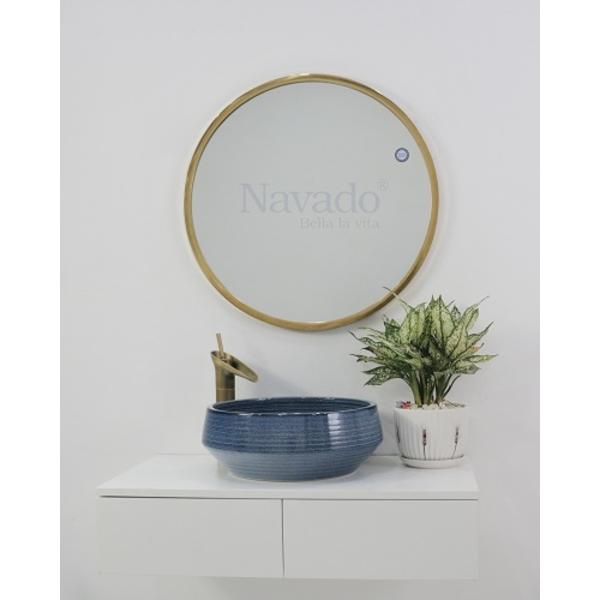 Gương phòng tắm viền Inox cao cấp