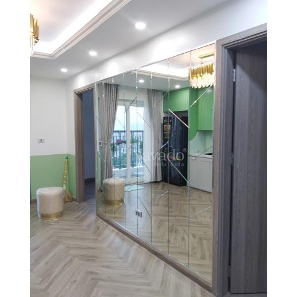 Gương Bỉ ghép tường nội thất Luxury
