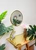 Gương tròn Inox mạ PVD bàn trang điểm
