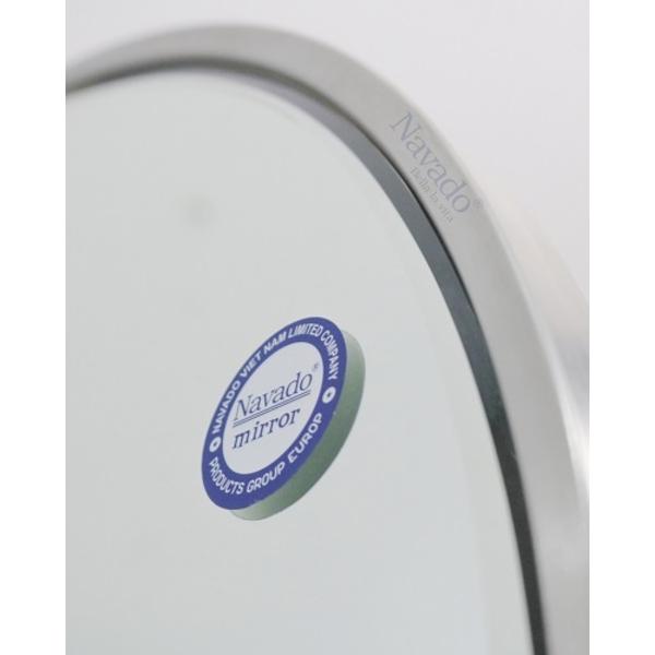 Gương bàn trang điểm viền Inox D60cm