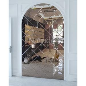 Gương ghép trang trí nội thất màu trà