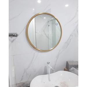 Gương phòng tắm inox mạ PVD màu vàng