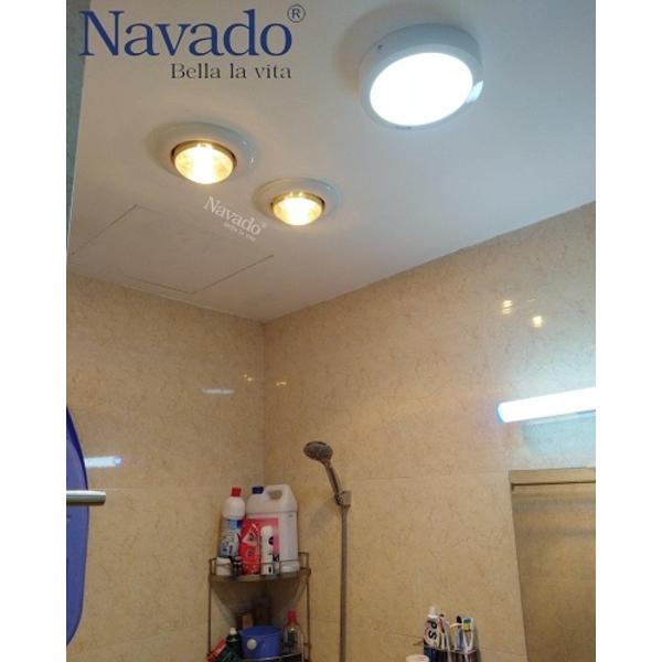 Đèn sưởi âm trần 3 bóng nhà tắm tiện ích