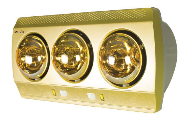 Đèn sưởi nhà tắm Milor 3 bóng ML 8003