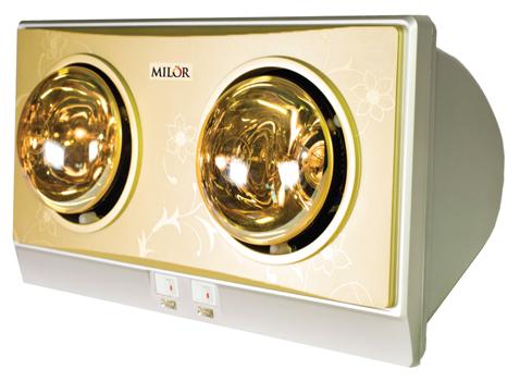 Đèn sưởi nhà tắm hai bóng Milor