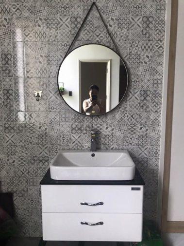 Gương dây da phòng tắm