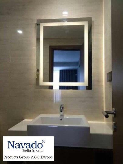 Cách lắp gương phòng tắm đẹp