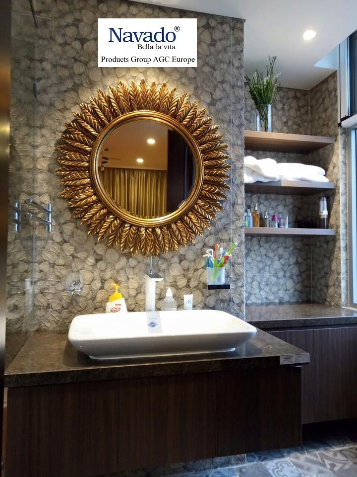 Mẫu gương treo phòng tắm