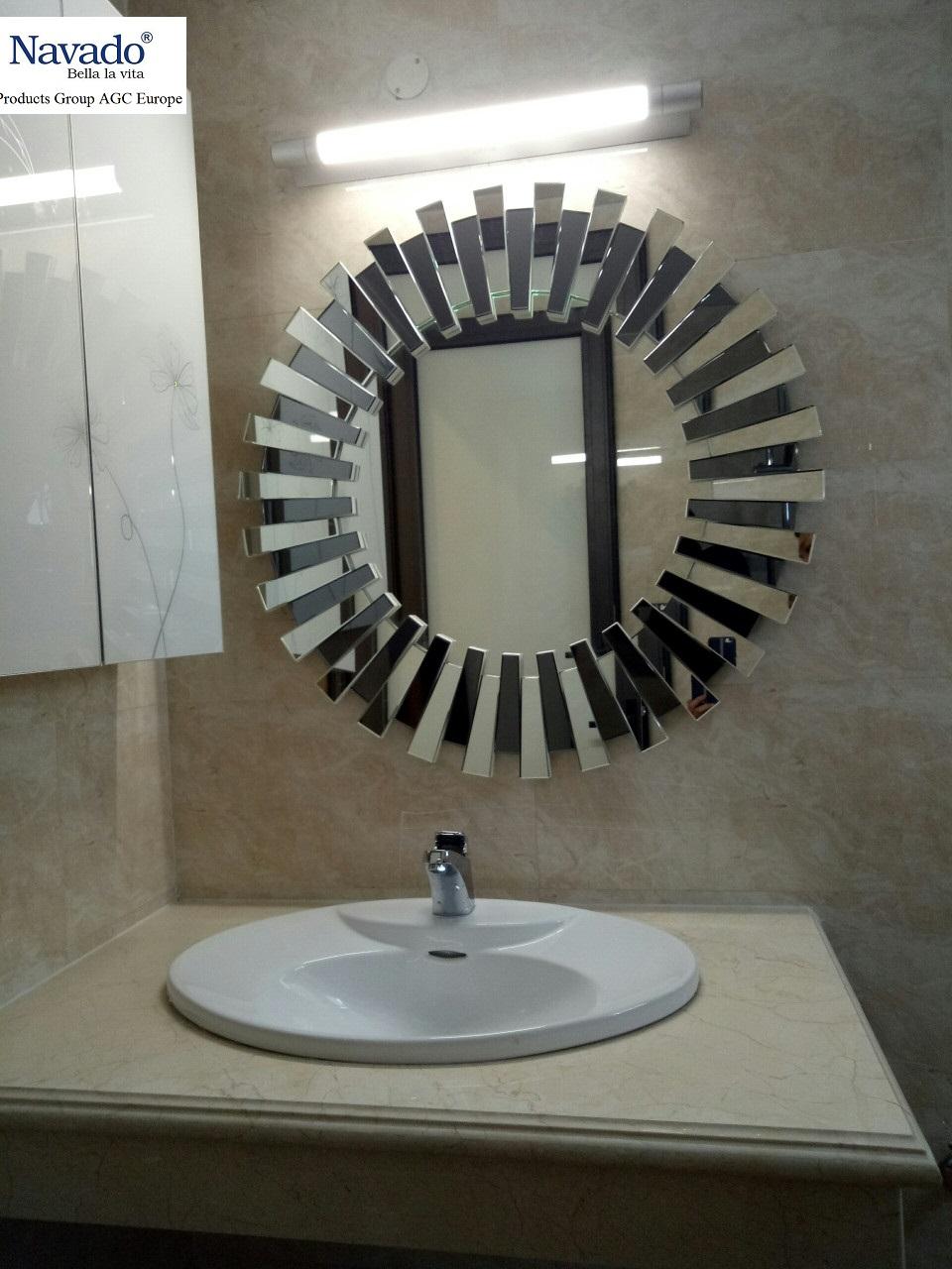 Cách lắp gương phòng tắm