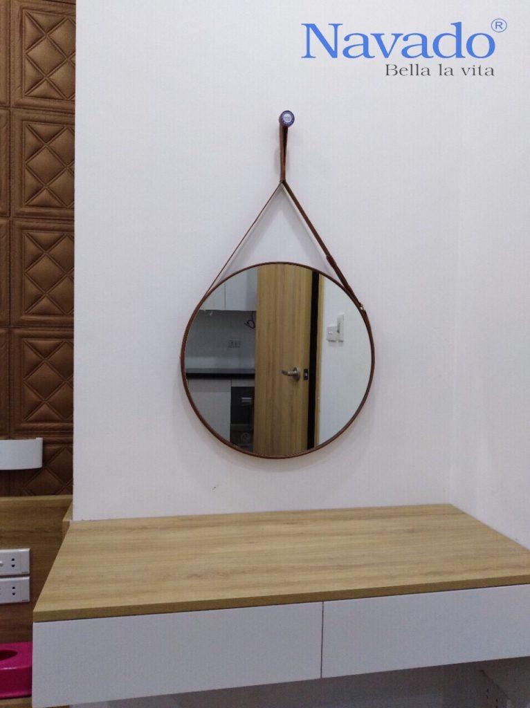 Gương phòng tắm điện biên , gương trang trí điện biên , gương nghệ thuật điện biên , gương bàn trang điểm điện biên, gương bỉ treo dây da điện biên.