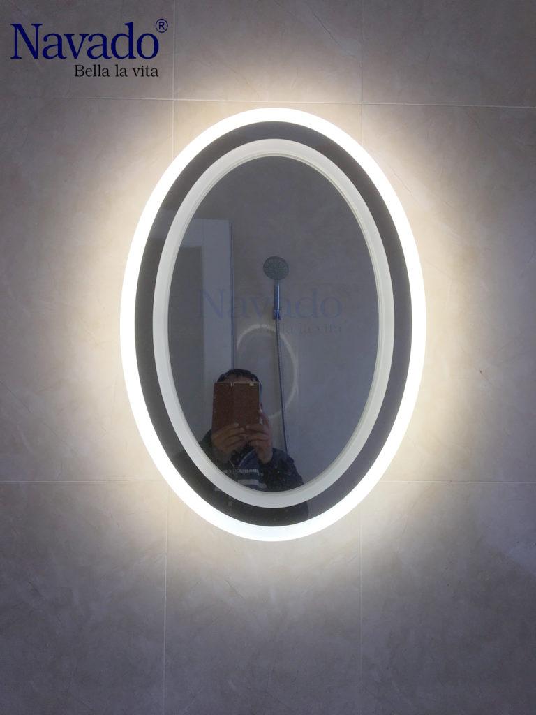 Gương bầu dục đèn led