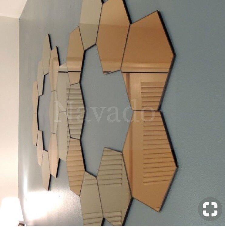 Gương ghép nghệ thuật màu trà