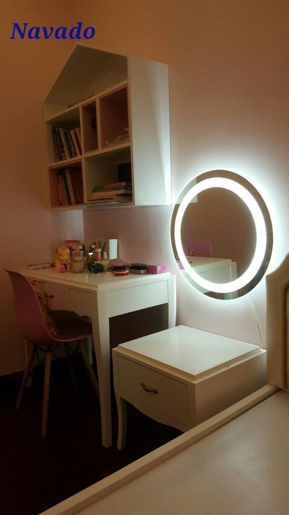 Gương trang điểm đèn led tròn
