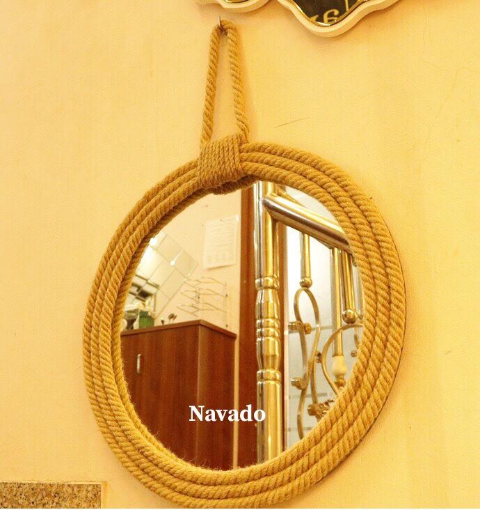Gương treo decor dây thừng