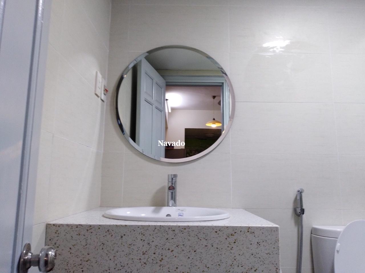Gương tròn mài vát 60cm
