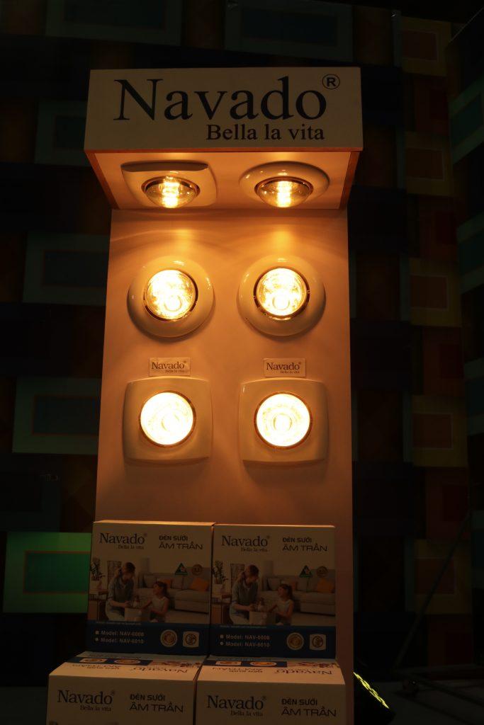 Đèn sưởi hồng ngoại 1 bóng phòng tập yoga