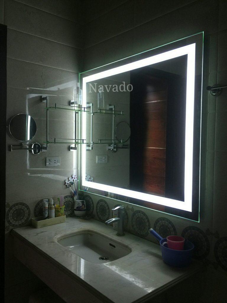 10 cách trang trí phòng tắm với gương treo tường nổi bật