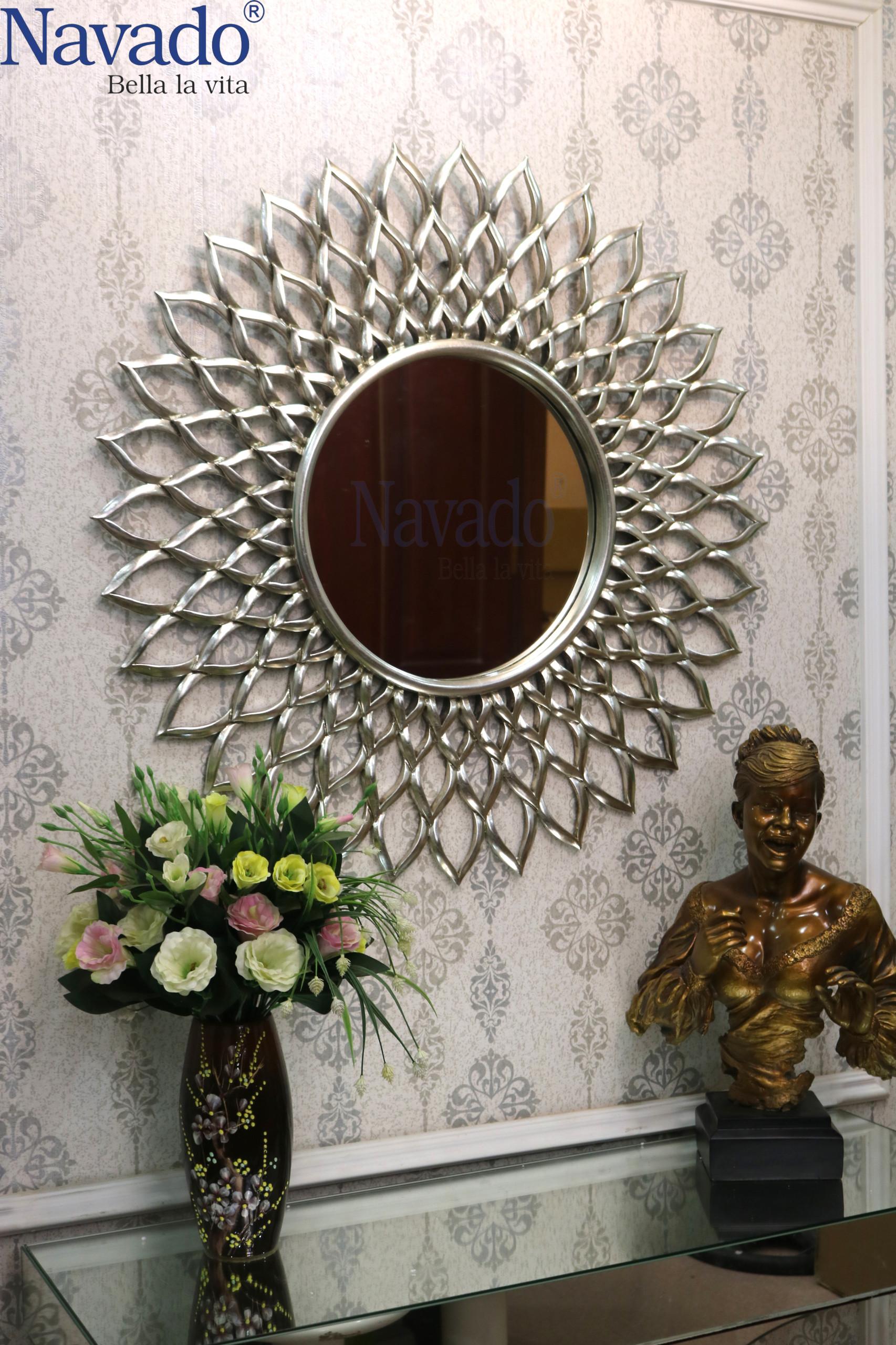Gương nghệ thuật treo tường Electra (Silver)