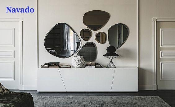 Ngất lịm với các mẫu gương trang trí phòng khách đơn giản mà đẹp đến khó quên