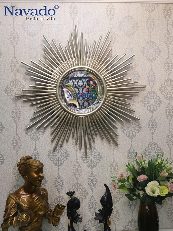Gương treo tường phòng khách Aten (Sliver)