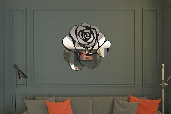 Gương decor hoa hồng Rose